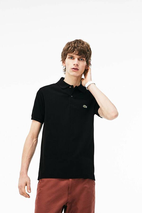 Polo classic fit in micro piquet